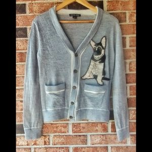 Michael Kors 100% Wool German Sheperd Cardigan M